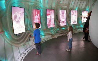 Στο εσωτερικό της πολυμεσικής κάψουλας, μήκους εννέα μέτρων, που θα στηθεί στο πολιτιστικό κέντρο «Λεωνίδας Κανελλόπουλος», στην Ελευσίνα, οι επισκέπτες αλληλεπιδρούν με τον ψηφιακό «οργανισμό» με την κίνησή τους.