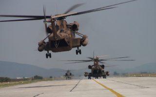 Στη φωτογραφία, ισραηλινό ελικόπτερο τύπου CH-53 προσγειώνεται στο Στεφανοβίκειο.