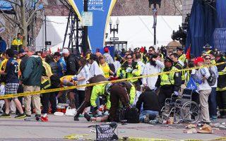 Φωτογραφία αρχείου από την επίθεση στο Μαραθώνιο της Βοστώνης.