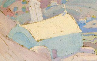 Το «Εξωκλήσι» του 1923 του Παπαλουκά ήταν από τα αγαπημένα του Παναγιώτη Τέτση. Παρουσιάζεται στην έκθεση με τα 130 έργα στο Ιδρυμα Θεοχαράκη.