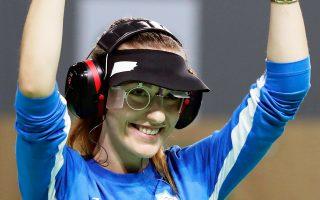 Η Ελληνίδα ολυμπιονίκης της σκοποβολής βρίσκεται στην Μπολόνια για τον τελικό των παγκοσμίων κυπέλλων.