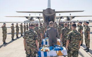 Χρειάστηκε να περάσουν 42 χρόνια για να επιστρέψουν στην Ελλάδα 16 ήρωες του αεροσκάφους Νοράτλας «Νίκη 4» της Ελληνικής Πολεμικής Αεροπορίας. Πετώντας χαμηλά, με φώτα σβηστά σε μια επικίνδυνη αποστολή τον Ιούλιο του 1974 καταρρίφθηκαν στη Λευκωσία από φίλια πυρά. Το αεροσκάφος τους και οι σοροί τους θάφτηκαν πρόχειρα σε έναν λόφο και λίγα χρόνια αργότερα οι οικογένειές τους στην Ελλάδα παρέλαβαν, θρήνησαν και έθαψαν οστά άλλων στρατιωτών σαν δικά τους. Χθες, η Κύπρος διόρθωσε αυτό το λάθος. Επειτα από πολύμηνες εργασίες, ανασκαφές και αναλύσεις DNA, βρέθηκαν και ταυτοποιήθηκαν τα λείψανα των πεσόντων και παραδόθηκαν στους συγγενείς τους. (Φωτογραφία Enri Canaj)