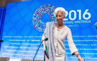Οι προϋποθέσεις για να συμμετέχει το Διεθνές Νομισματικό Ταμείο στο ελληνικό πρόγραμμα «δεν έχουν αλλάξει, πιστεύουμε ότι πρέπει να γίνουν πολύ σημαντικές διαρθρωτικές μεταρρυθμίσεις και επίσης το χρέος πρέπει να είναι βιώσιμο στο μέλλον», ανέφερε η Κριστίν Λαγκάρντ στην ετήσια σύνοδο του ΔΝΤ.