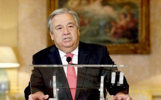 O Αντόνιο Γκουτιέρες απευθύνεται για πρώτη φορά στη διεθνή κοινή γνώμη με την ιδιότητα του επερχόμενου γ.γ. του ΟΗΕ.