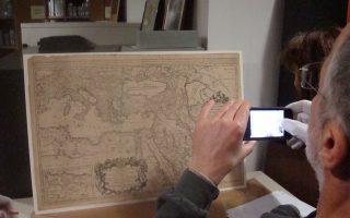 Ο χάρτης του Sanson «Etats de l' Empire du Grand Seigneur des Turcs en Europe, en Asie et en Afrique», Εκδοση Schenk, Αμστερνταμ 1692. Συλλογή Τρικόγλου.