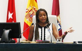 Η δεκαπεντάχρονη Γιαντίς, δήμαρχος Μαδρίτης επ' ευκαιρία της Παγκόσμιας Ημέρας του Κοριτσιού.
