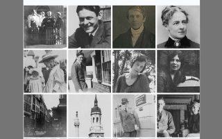 O νεαρός Τ.Σ. Ελιοτ, μέλη της οικογένειάς του και η πρώτη σύζυγός του, Vivienne (κάτω αριστερά). Φωτογραφίες από την ιστοσελίδα Tseliot.com.