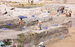 Φωτογραφία αρχείου από τις ανασκαφές στο αρχαίο λιμάνι του Θεοδοσίου