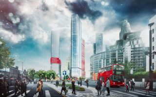 ΚΕΝΤΡΙΚΟ ΛΟΝΔΙΝΟ, αστική ανάπτυξη μεικτής χρήσης κοντά στον σταθμό του Vauxhall. Αρχιτεκτονικό γραφείο: PLP