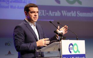 «Τον Δεκέμβριο θα αποφασιστούν άμεσα μέτρα παρεμβάσεων στο δημόσιο χρέος», δήλωσε ο κ. Αλέξης Τσίπρας κατά την ομιλία του στην Ευρωαραβική Σύνοδο «Εταίροι για τη Ανάπτυξη».