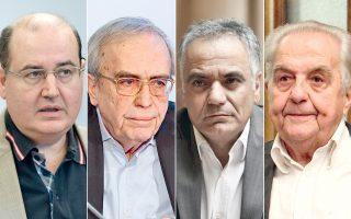 Ο Νίκος Φίλης και ο Αριστείδης Μπαλτάς έμειναν εκτός κυβέρνησης μετά τον χθεσινό ανασχηματισμό. Ο Παναγιώτης Σκουρλέτης μετακινήθηκε και αναλαμβάνει υπουργός Εσωτερικών, ενώ ο Αλέκος Φλαμπουράρης παραμένει υπουργός Επικρατείας.