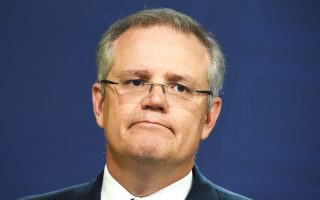 Ο υπουργός Οικονομικών της Αυστραλίας Σκοτ Μόρισον (φωτ.) τόνισε ότι το χρέος που συσσωρεύουν οι τοπικές διοικήσεις της Κίνας και οι κρατικές της επιχειρήσεις θα μπορούσε να εγκυμονεί κινδύνους για τη χώρα του.