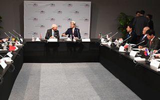 Ο Αμερικανός υπουργός Εξωτερικών Τζον Κέρι στη σύνοδο για την κλιματική αλλαγή στο Μαρακές.