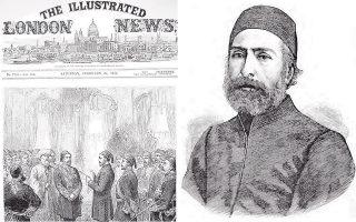Η είδηση του θανάτου του Ιμπραήμ Εντχέμ Πασά, το 1893, και το ελληνικό βιογραφικό του έτυχαν τότε παγκόσμιας προβολής.