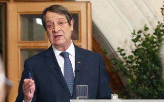 Ο Κύπριος πρόεδρος Νίκος Αναστασιάδης υπερασπίστηκε τη διαπραγματευτική τακτική της Λευκωσίας και κάλεσε την Τουρκία να μετακινηθεί από τις θέσεις της, ώστε να ανοίξει ο δρόμος για την εξεύρεση λύσης του Κυπριακού.