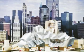 Παράρτημα του Μουσείου Γκούγκενχαϊμ που επρόκειτο να κατασκευαστεί στο East River σε σχέδια του Φρανκ Γκέρι.