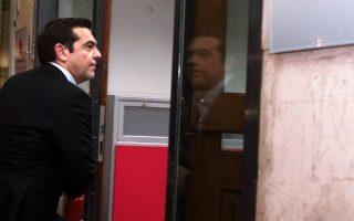 Ο κ. Αλέξης Τσίπρας εισέρχεται στη χθεσινή συνεδρίαση της Πολιτικής Γραμματείας του ΣΥΡΙΖΑ.