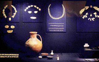 Η έκθεση «Κριμαία: Χρυσός και Μυστικά της Μαύρης Θάλασσας», όπως απαθανατίστηκε από τον φωτογραφικό φακό τον Αύγουστο του 2014 στο Μουσείο του Αμστερνταμ.