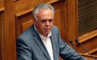 O αντιπρόεδρος της κυβέρνησης Γ. Δραγασάκης.