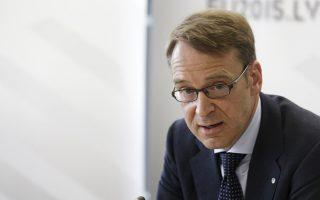 «Τα χρήματα της ανακεφαλαιοποίησης δεν πρέπει να χρησιμοποιηθούν ώστε να καλυφθούν ζημίες», δήλωσε ο κεντρικός τραπεζίτης της Γερμανίας κ. Γενς Βάιντμαν.