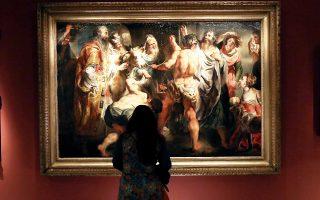 Εντυπωσιακοί πίνακες της Αναγέννησης μεταξύ, των εκθεμάτων στο Βυζαντινό Μουσείο.