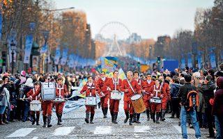 Η παρέλαση στα Ηλύσια Πεδία ανήμερα την Πρωτοχρονιά. (Φωτογραφία: GETTY IMAGES/IDEAL IMAGE)
