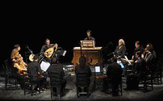 Από τη συναυλία «Ενας Αγγλος ταξιδευτής στο Λεβάντε» των Latinitas Nostra, που θα παρουσιάσουν την παράσταση «Communio», σε σκηνοθεσία Κατερίνας Ευαγγελάτου, στην Εναλλακτική Σκηνή της ΕΛΣ τον Μάρτιο.