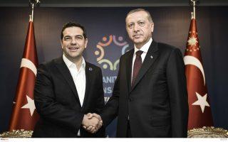 Η Αθήνα έχει θέσει ως όρο συμμετοχής στην πολυμερή διάσκεψη της Γενεύης να έχει προηγηθεί συνάντηση Τσίπρα - Ερντογάν (η φωτ. από παλαιότερη συνάντησή τους). Ωστόσο, η Αγκυρα «παίζει καθυστερήσεις»...