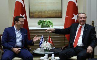 Ανοικτό είναι για το Μαξίμου το ενδεχόμενο συνάντησης μεταξύ των κ. Τσίπρα και Ερντογάν πριν από τις 12 Ιανουαρίου, ημερομηνία πραγματοποίησης της πολυμερούς διάσκεψης που θα ακολουθήσει την επανέναρξη των συνομιλιών ανάμεσα στην Κυπριακή Δημοκρατία και το ψευδοκράτος.