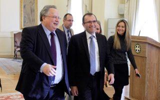 Τον ειδικό σύμβουλο του γ.γ. του ΟΗΕ για το Κυπριακό Εσπεν Μπαρθ Εϊντε υποδέχθηκε χθες στο υπουργείο Εξωτερικών ο κ. Ν. Κοτζιάς.