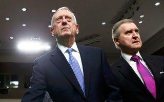 Ο απόστρατος στρατηγός των πεζοναυτών και εν αναμονή υπουργός Τζέιμς Μάτις, στην αίθουσα της Επιτροπής Αμυνας της Γερουσίας.