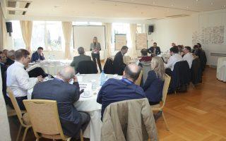 Στιγμιότυπο από τη συνάντηση που έλαβε χώρα στην Αίγλη Ζαππείου.