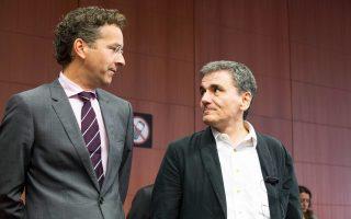 Στη φωτογραφία, ο υπουργός Οικονομικών Ευκλ. Τσακαλώτος με τον πρόεδρο του Eurogroup Γ. Ντάισελμπλουμ.