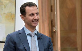 Ο Σύρος πρόεδρος Ασαντ στη διάρκεια συνέντευξής του.
