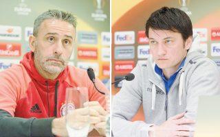 «Στην Ευρώπη περάσαμε από έναν ισορροπημένο όμιλο. Τώρα έχουμε μπροστά μας έναν δύσκολο αντίπαλο. Πρέπει να προχωρήσουμε», τόνισε χθες ο Πάουλο Μπέντο (αριστερά), ενώ ο Βλάνταν Ιβιτς είπε: «Είμαστε σε καλύτερη κατάσταση συγκριτικά με εκείνα τα παιχνίδια με τον Αγιαξ. Η ομάδα είναι πιο δεμένη».