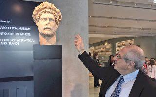 Ο πρόεδρος του Μουσείου Ακρόπολης, Δημήτρης Παντερμαλής, έχει πολλά να αφηγηθεί για την Αθήνα του Αδριανού.