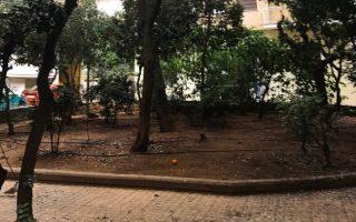 H πλατεία Ιωάννου Χαραμή στην οδό Βάλτου, στους Αμπελοκήπους.