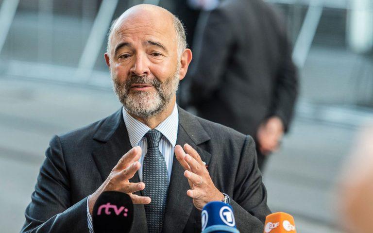 Έκκληση Μοσκοβισί για υπευθυνότητα ώστε να υπάρξει θετική έκβαση στο Eurogroup
