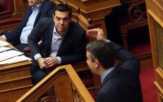 Στιγμιότυπο από την σημερινή συνεδρίαση στη Βουλή