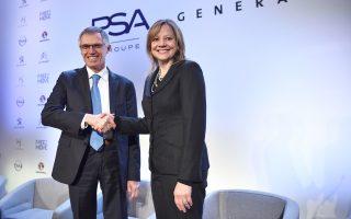 Η PSA θα αποκτήσει τη γερμανική ανταγωνίστριά της από την General Motors στο πλαίσιο συμφωνίας αξίας 2,2 δισ. ευρώ, την οποία επικύρωσαν ο Κάρλος Ταβάρες, διευθύνων σύμβουλος της πρώτης, και η Μέρι Μπάρα, διευθύνουσα σύμβουλος της δεύτερης.