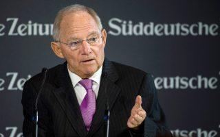 «Το θέμα δεν είναι του παρόντος» απάντησε ο Β. Σόιμπλε όταν ρωτήθηκε για την ελάφρυνση του ελληνικού χρέους.