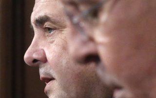 Σεργκέι Λαβρόφ  (δεξιά) και Ζίγκμαρ Γκάμπριελ στη συνέντευξη Τύπου μετά τη χθεσινή συνάντησή τους, στη Μόσχα.