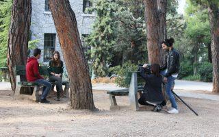 Εφηβοι πρόσφυγες και μαθητές του Ανατόλια συνεργάζονται υπό την επίβλεψη φοιτητών του Τμήματος Κινηματογράφου του ΑΠΘ.