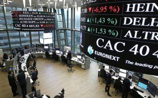 Στο Λονδίνο, ο δείκτης Ftse 100 υποχώρησε κατά 0,27%. Αντιθέτως, ο γερμανικός δείκτης Dax και ο γαλλικός δείκτης Cac 40 ενισχύθηκαν κατά 0,09% και 0,42%, αντίστοιχα.