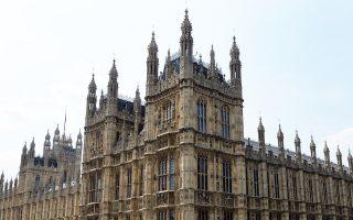 Αποψη της Βουλής των Κοινοτήτων της Βρετανίας, στο Λονδίνο.