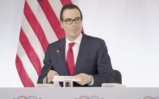Ο Αμερικανός υπουργός Οικονομικών Στίβεν Μνούτσιν φαινόταν να μην έχει λάβει σαφείς οδηγίες για τη θέση των ΗΠΑ στο πιο πιεστικό για τη σύνοδο του G20 θέμα: το ελεύθερο εμπόριο και τον προστατευτισμό.