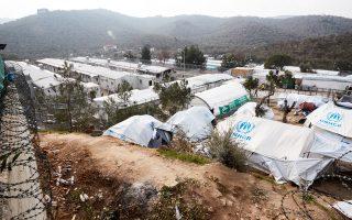 Ανάλογη αστυνομική επιχείρηση πραγματοποιήθηκε και στο κέντρο υποδοχής μεταναστών της Μόριας.