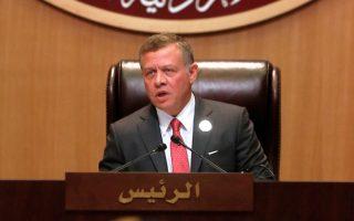 Ο βασιλιάς Αμπντάλα της Ιορδανίας κατά την εναρκτήρια ομιλία της συνόδου του Αραβικού Συνδέσμου.