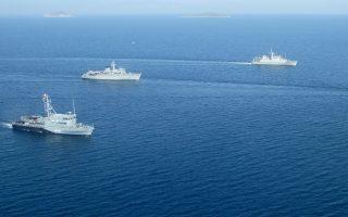 Ελληνικά και νατοϊκά πλοία στο Αιγαίο. Τα τελευταία επεισόδια στα ελληνοτουρκικά είναι αρκούντως ανησυχητικά ως προς την κλιμάκωσή τους, ωστόσο δεν περιέχουν κάποια νέα διεκδίκηση της Αγκυρας.