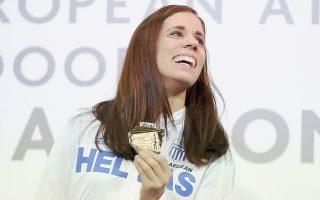 Η Κατερίνα Στεφανίδη, με άλμα στα 4,85 μ., ήρθε πρώτη στο επί κοντώ και, πλέον, από το παλμαρέ της λείπει μόνο το χρυσό από παγκόσμιο πρωτάθλημα.